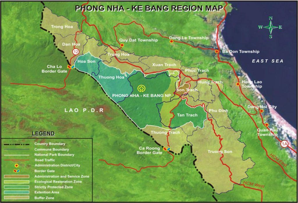 Bản đồ Vườn Quốc gia Phong Nha - Kẻ Bàng