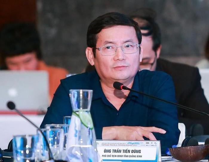Ông Trần Tiến Dũng chia sẻ về chiến lược quảng bá du lịch của tỉnh Quảng Bình. Ảnh: An Bình.